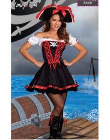Костюм пиратки с шляпой