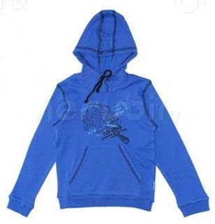 Синий джемпер с капюшоном от Черубино