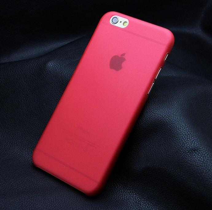 Ультратонкий чехол для iphone 5c Красный