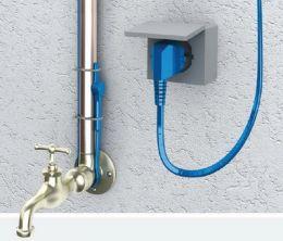 Кабель нагревательный двухжильный Hemstedt FS  20вт 2м для обогрева водопроводных и канализационных трубопроводов от замерзания
