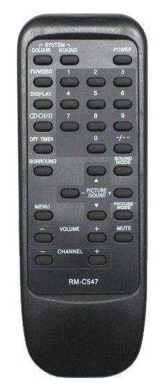 Пульт для JVC RM-C547 (TV) (AV-B21T,M, AV-G250MX, AV-K144, AV-K14T, AV-K214, AV-K21T)