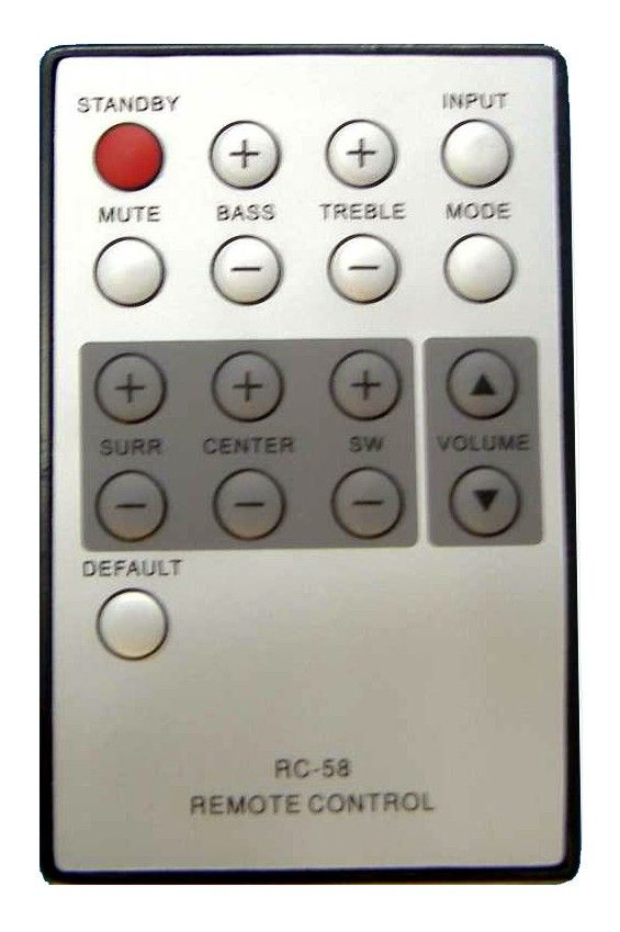 Пульт для BBK RC-58 (RC-05, RC-970) (TV) (MA-900S, MA-950S, MA-960S, MA-965S, MA-970S, Sub 5.1)
