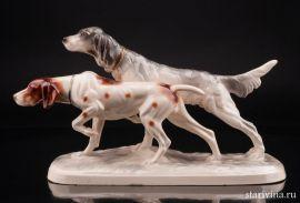 Две охотничьих собаки, Katzhutte, Германия, 1941-58 гг., артикул 10831
