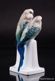 Два волнистых попугайчика, Rosenthal, Германия, 1930 год., артикул 01319
