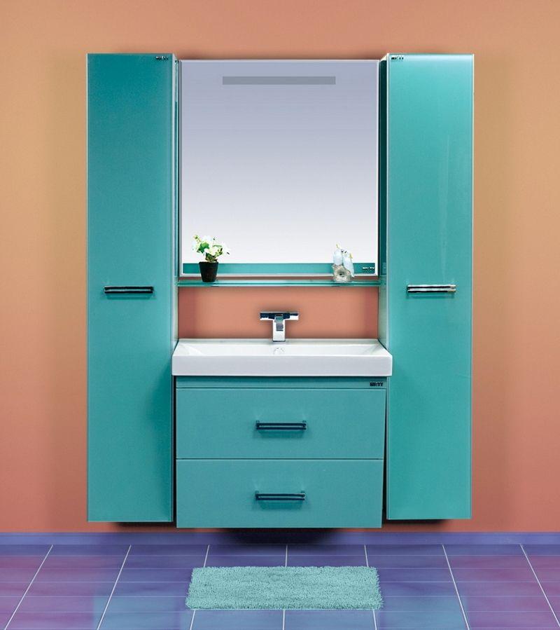 Мебель для ванн Misty Джулия QVATRO 90 конус с 2-мя ящиками подвесная