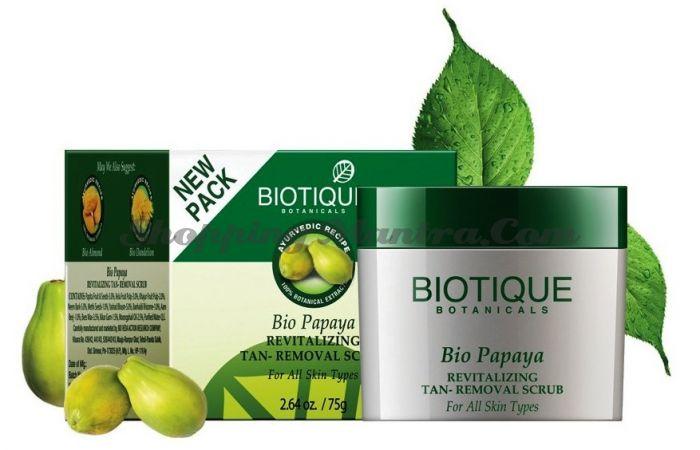 Скраб для лица после загара Биотик Папайя (Biotique Bio Papaya Face Scrub)