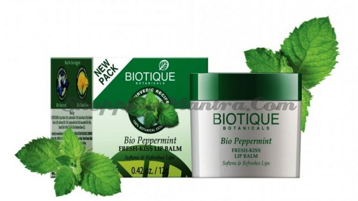 Освежающий бальзам для губ Биотик Мята | Biotique Bio Peppermint Fresh-Kiss Lip Balm