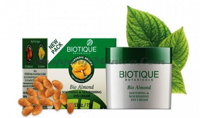 Крем Биотик Миндаль для ухода за кожей вокруг глаз   Biotique Almond Eye Cream