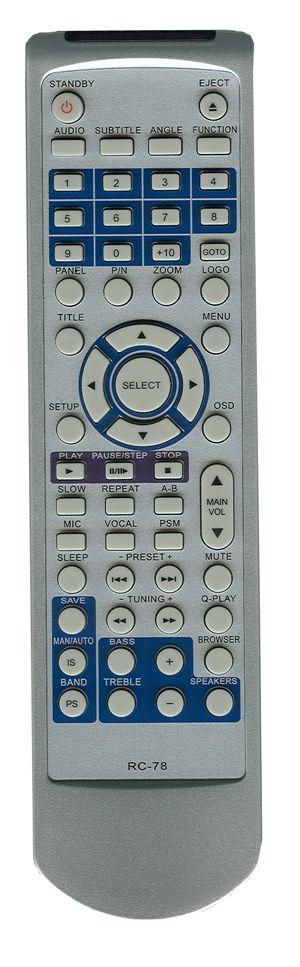 Пульт для BBK RC-78 (DVD) (DK1000S, DK1010S, DK1015S, DK1020S, DK1030S, DK1040S, DK929S, DK1017S)