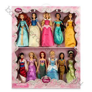 набор подарочный Диснеевские принцессы из 11 кукол по 30 см Дисней оригинал