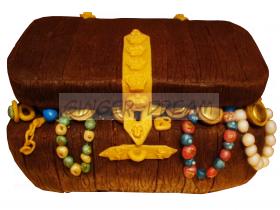 """Пиратский торт """"Сундук с сокровищами"""""""