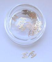 """Логотип  """"Шанель двойная золото"""", 25 штук"""