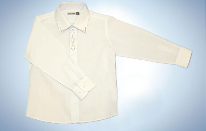 Нарядная белая рубашка для мальчика