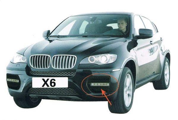 Дневные ходовые огни BMW X6 2008+