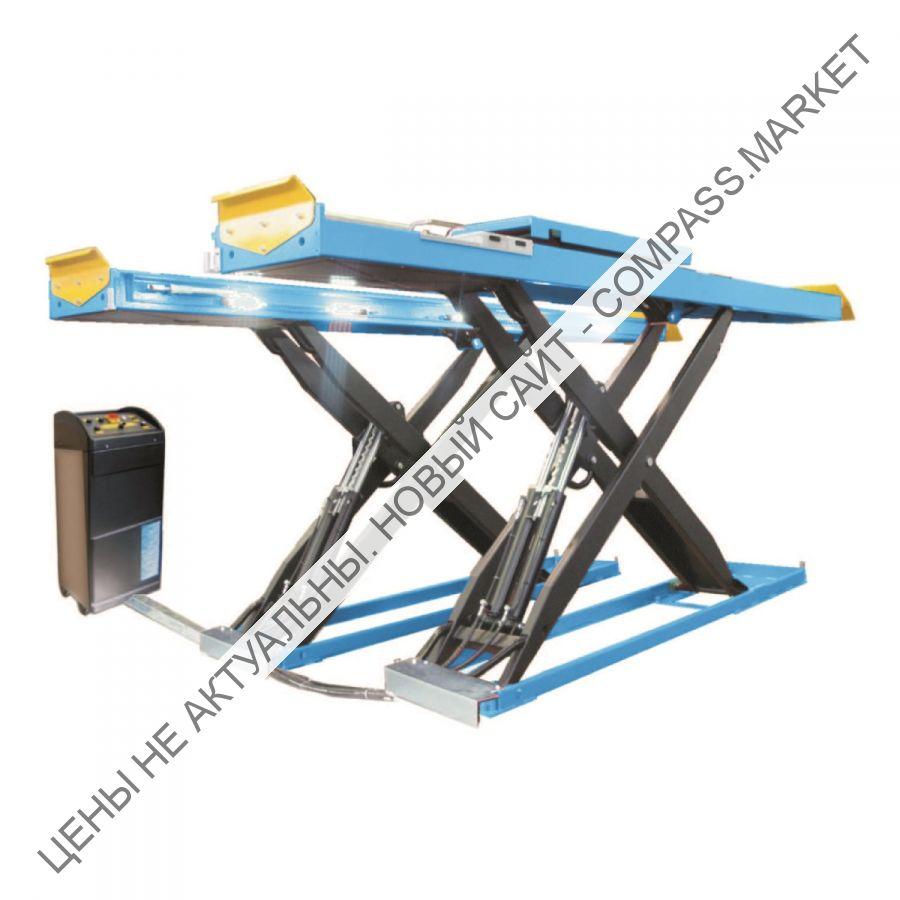 Подъемник ножничный г/п 4500 кг. платформы гладкие с люфт-детектором,  Werther-OMA (Италия)