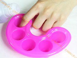 Ванночка для маникюра с разделителями для пальцев
