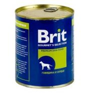 Brit Beef & Heart - Говядина и сердце, консервы для собак (850 г)