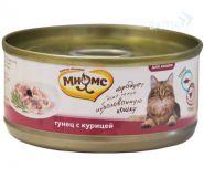 Мнямс Консервы для кошек Тунец с курицей в нежном желе (70 г)