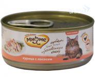 Мнямс Консервы для кошек Курица с лососем в нежном желе (70 г)