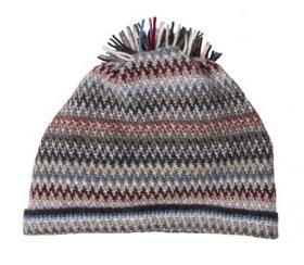 модная вязаная шотландская  шапка Zig Zag Arctic Непокоренная Арктика, плотность 7