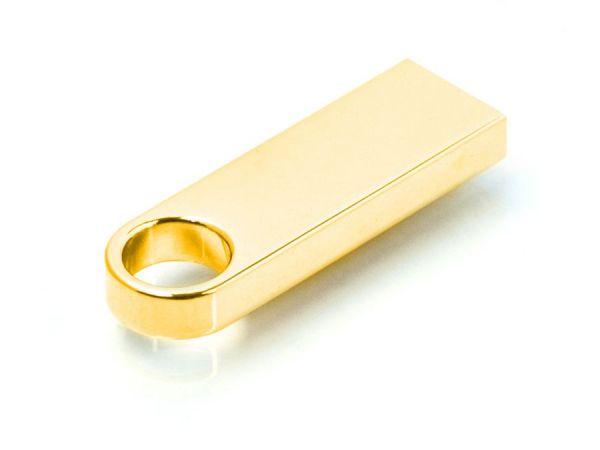 8GB USB-флеш накопитель Apexto U904A металлический брелок золотой