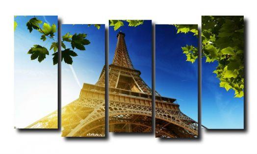 Модульная картина У Эйфелевой башни.