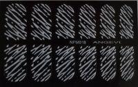 """Наклейки для ногтей """"Белые"""" NFM 018"""