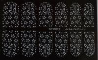 """Наклейки для ногтей """"Белые"""" NFM 021"""