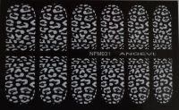 """Наклейки для ногтей """"Белые"""" NFM 031"""