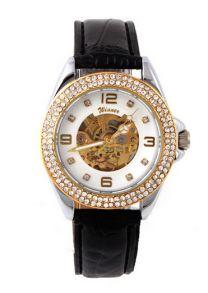 Стильные женские скелетные часы со стразами Сваровски