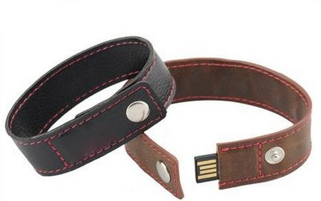 8GB USB-флэш накопитель Apexto U503O черный кожаный браслет