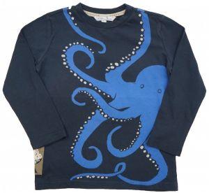 Майка для мальчика синяя с осьминогом Турция