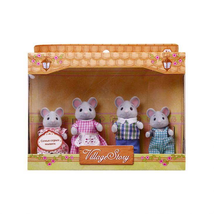 Семья серых мышек (4 шт) Village Story