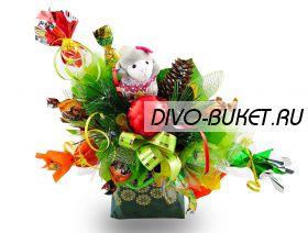 """Букет из конфет №394 """"Новогодняя символика"""""""