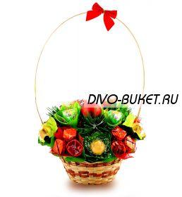 """Букет из конфет №403 """"Новогодняя полянка"""""""