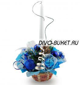 """Букет из конфет №414 """"Голубой огонёк"""""""