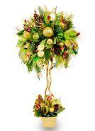 """Букет из конфет №418 """"Новогоднее дерево из денег"""""""