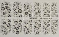 """Наклейки для ногтей """"Черные"""" NFM 036"""