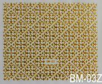 """Наклейка для дизайна ногтей на клеевой основе """"Золото"""" BM - 03Z"""