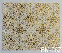 """Наклейка для дизайна ногтей на клеевой основе """"Золото"""" BM - 06Z"""