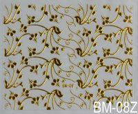 """Наклейка для дизайна ногтей на клеевой основе """"Золото"""" BM - 08Z"""