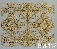 """Наклейка для дизайна ногтей на клеевой основе """"Золото"""" BM - 11Z"""