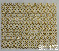 """Наклейка для дизайна ногтей на клеевой основе """"Золото"""" BM - 17Z"""