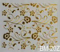 """Наклейка для дизайна ногтей на клеевой основе """"Золото"""" BM - 20Z"""