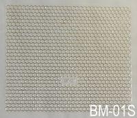 """Наклейка для дизайна ногтей на клеевой основе """"Серебро"""" BM - 01S"""