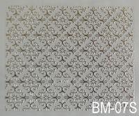 """Наклейка для дизайна ногтей на клеевой основе """"Серебро"""" BM - 07S"""