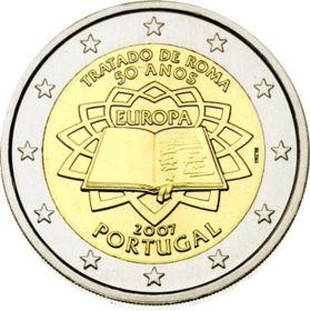 50-летие подписания Римского договора 2 евро Португалия 2007