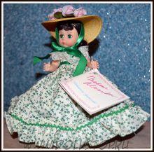 "Коллекионная кукла Скарлетт из Унесенных ветром от Мадам Александер - Madame Alexander Scarlett 626 Gone With the Wind 8"" Doll w/doll stand"
