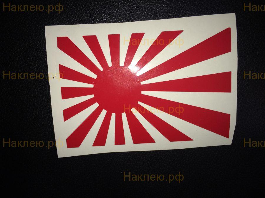 Наклейка японский флаг