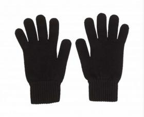 кашемировые перчатки мужские (100% драгоценный кашемир) , классический чёрный цвет